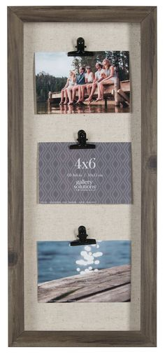 3 Clip Collage Picture Frame