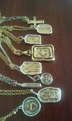 New & unique vintage-style Catholic jewelry. Made of brass & sterling silver.