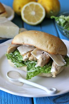Chicken Caesar Ciabatta Sandwiches - Damn Delicious. So excited about this sandwich and the included recipe for homemade caesar dressing, really want to nail it!