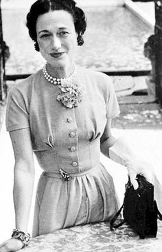 Wallis Warfield Simpson married the Duke of Windsor.  An american socialite who stole the would-be King!