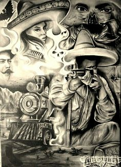 Chicano Art Tattoos, Chicano Drawings, Gangster Tattoos, Arte Cholo, Cholo Art, Payasa Tattoo, Chest Tattoo, Tattoo Fonts, Aztec Drawing