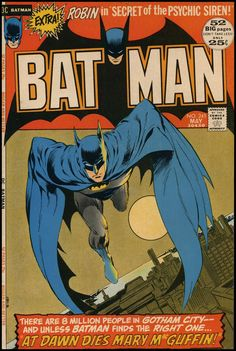 By special request from a couple posts ago about Neal Adams, here is a reposting of a cover that has special meaning to me in that it was on...