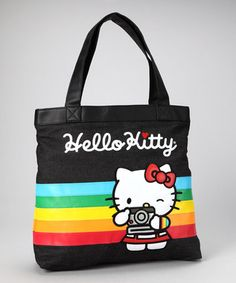 Take a look at this Black Rainbow Tote by Loungefly  Hello Kitty on today! bca7ac524d