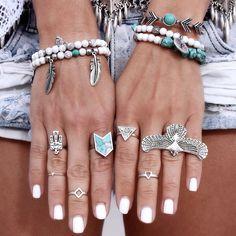 Gypsy Lovin Light x Torchlight Jewelry Huntress Cuff & Turquoise Chevron Ring
