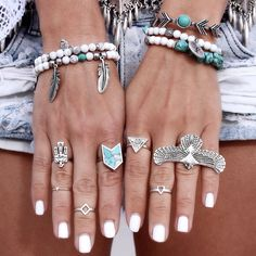 Gypsy Lovin Light x Torchlight Jewelry Huntress Cuff & Turquoise Chevron Ring