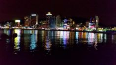 Busan bay at night by Laurent Caccia