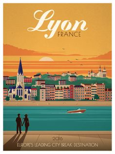 Lyon Poster by IdeaStorm Studios ©2016. Available exclusively at ideastorm.bigcartel.com
