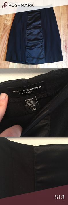Jonathan Saunders Targets Skirt W/Satin Strip Sz 7 First like a small/medium. It does have stretch in the material. Zipper in the back jonathan saunders for target Skirts Pencil