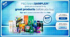 Get Great Samples from P&G BrandSampler