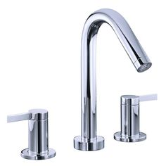 Kohler Stillness 2 Handle Deck Mount Bathroom Faucet Trim Only In Polished Chrome
