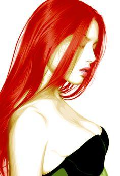 "artforadults: "" via gzeus01: "" Poison Ivy by gzeus01 Deviant Art ||| Tumblr "" """
