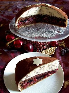 Rezeptbild: festliche Schoko-Kirsch-Weihnachtstorte mit Verpoorten Original