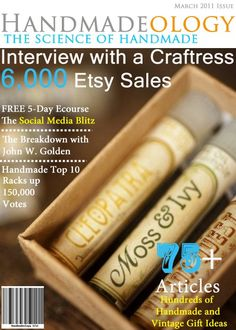 My passion is to help crafters and artists reach their goals and strive for success, so I have put the best of the best articles in a PDF magazine format. You will find all the helpful articles and even handmade and vintage gift ideas straight from Etsy all in one place.