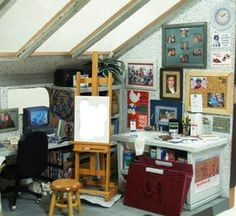 Art & Friendship Room Box - Elaine's 1-12th Scale Miniature Room Boxes