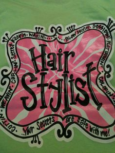 hairstylist screenprinted tshirts by christies on Etsy, $23.00