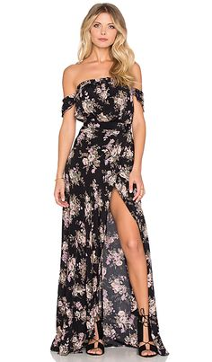 Bella Maxi Dress in Black Magic