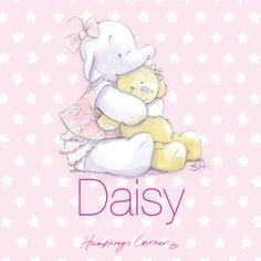 Humphrey's Corner Baby Daisy hugs personalised canvas print