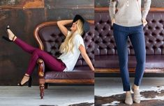 GroopDealz | Classic Motto Leggings - 6 Colors! Linen Bag, Linen Pants, Motto Leggings, Stretch Denim Fabric, Soft Shorts, Goods And Services, Skinny Pants, Online Boutiques, Joggers