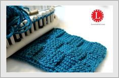 Loom Knit Pattern Garter Stitch Checks Video