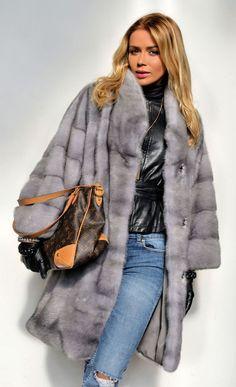 NEW 2016 MILANO SAPPHIRE ROYAL SAGA MINK FUR COAT CLASS OF JACKET CHINCHILLA FOX #MARCOGIANOTTIMILANO #OtherCoats