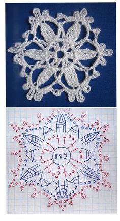 Crochet Snowflake Pattern, Crochet Snowflakes, Crochet Ornaments, Doilies, Crochet Necklace, Bb, Projects To Try, Skirts, Xmas