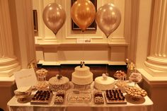 Silver and Gold Sweet Table | Sweet Table Chicago: Designer Dessert Tables