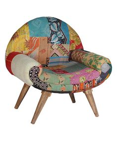 Loving this Blue & Lime Bohemian Trail Chair on #zulily! #zulilyfinds
