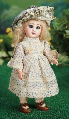 Beautiful French Bisque Bebe, Size 1, by Emile Jumeau 2800/3500