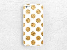 Gold Glitter print Polka dots phone case for iPhone 6 iPhone 5 5c, Sony z1 z2 z3 compact, LG g2 g3 nexus 5, HTC one m7 m8, Moto x Moto g -P6