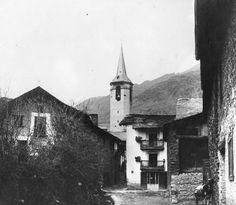 """Esterri d'Àneu_0010. """"Carrer d'entrada a Esterri d'Àneu"""", Antoni Gallardo i Garriga, 1917"""
