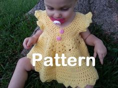 PATTERN - Crochet Tunic Style Pinafore for Baby Girls