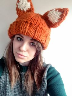 Knitting Kits: Beginners Super Chunky Fox or Panda Hat Pattern and Yarn by sincerelylouise
