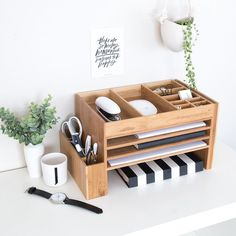Wood home office desk supplies organiser office storage desk tidy dock station office desk ideas of office desk officedesk cute desk accessories unique organizers desktop electronics etsy 35 inspiration for small space bedroom decorating ideas Small Storage Boxes, Small Space Storage, Desk Storage, Storage Caddy, Bedroom Storage, Bedroom Desk, Furniture Storage, Laptop Storage, Paper Storage