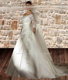 $175.97, Cheap beautiful plus size wedding dresses with sleeves