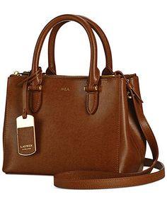 Lauren Ralph Lauren Newbury Mini Double Zip Satchel - Satchels - Handbags  Accessories - Macy's $170.99