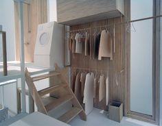sou fujimoto: house NA  mini modern Japanese dwelling-closet and w/d