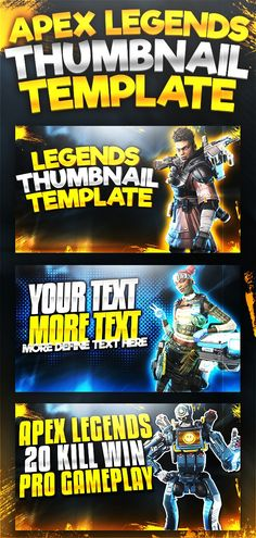 Youtube Thumbnail Template, Thumbnail Design, Youtube Design, Social Media Template, Cool Fonts, Gaming, Photoshop, Templates, Meal Recipes