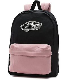 Simple style doesn't stop with your clothing. The Realm zephyr and black backpack brings a color blocked pastel style to every look. With 2 storage compartments, this backpack is finished with the comfort of a padded center back panel and adjustable shoul Vans Backpack, Black Backpack, Backpack Bags, Fashion Backpack, Pastel Backpack, Duffle Bags, Messenger Bags, Cute Backpacks For School, Cute Mini Backpacks