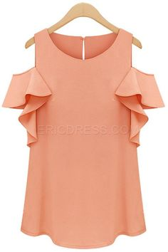 Ericdress Solid Color Slim Blouse