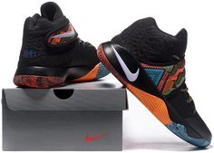 best sneakers 36685 f1a35 Kyrie 2 BHM Black Orange Red White Blue1 Nike Kyrie, Cheap Nike Air Max,