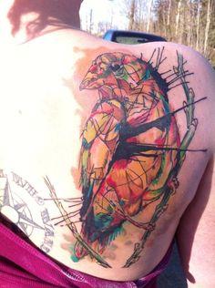 Abstract bird tattoo
