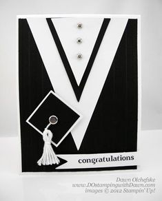 Congrats Cap & Gown Card and Video - DOstamping with Dawn, Stampin' Up! Graduation Cards Handmade, Congratulations Card, Kids Cards, Baby Cards, Cute Cards, Men's Cards, Masculine Cards, Creative Cards, Scrapbook Cards