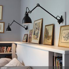 Wall Lamp In Black Satin Designed By Bernard Albin Gras The Is An  Articulated Wall Lamp With An Adjustable, Triangular Cast Wall Bracket.  Versatile And Er