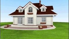 Dom w wiciokrzewie Home Fashion, Architecture Design, New Homes, Floor Plans, House Design, Flooring, Mansions, House Styles, Home Decor