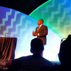 FUBU founder and Shark Tank judge Daymond John gave a speech on his story from the hood to where he is now. It was good.