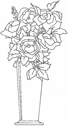 Roses Coloring Page 23 Is A From FlowersLet Your Children Express Their Imagination When They Color The Will Never