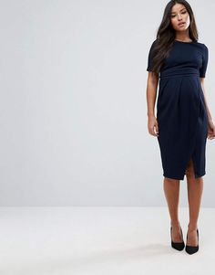 ASOS Maternity Double Layer Textured Smart Dress.#ad