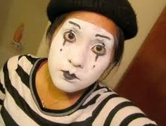 mime face paint