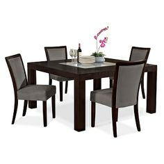 "Karmon Gray Dining Room 5 Pc. Dinette (60"" Table)   Furniture.com $699.95"