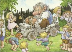 Playing Rolf Lidberg Sweedish painter, famous for his pictures of trolls